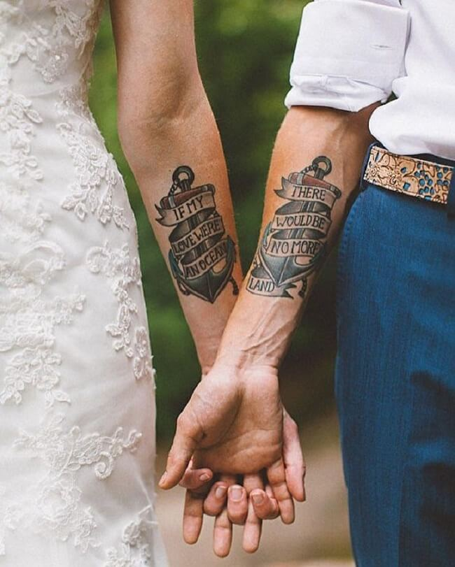 40 Creative Couple Tattoo Designs To Show Your Real Love Topofstyle Blog