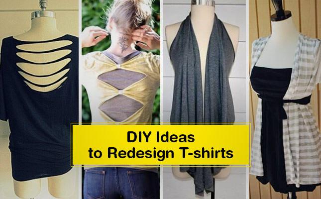 33 New DIY T-Shirts Re-Design Ideas by Cutting & Painting ...