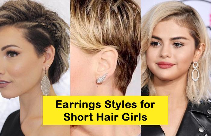 Best Earrings Styles for Short Hair Girls