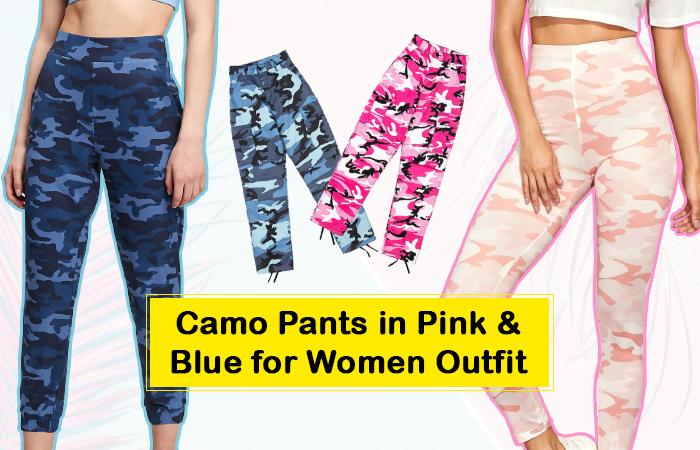 Camo Pants in Pink & Blue for Women Outfit