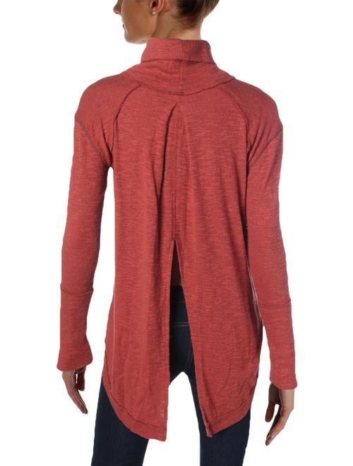 Free People Womens Split Back Knit Sweater
