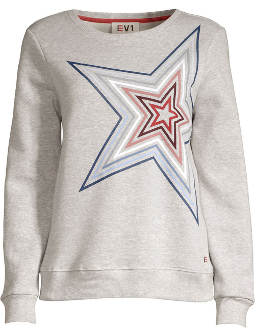 EV1 from Ellen DeGeneres Star Fleece Crew Neck Sweatshirt Women's