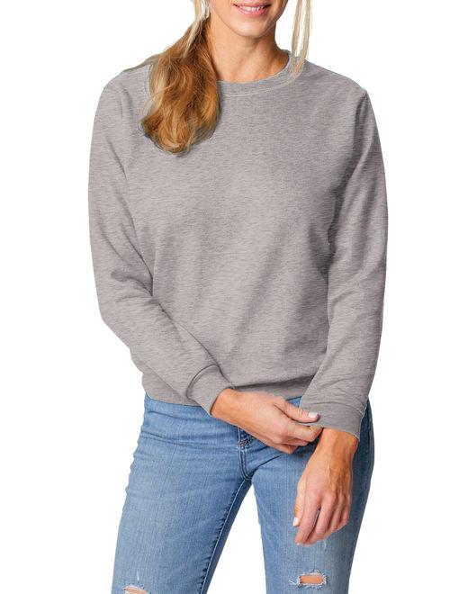 Gildan Women's Athleisure Soft Cotton Crewneck Fleece Sweatshirt