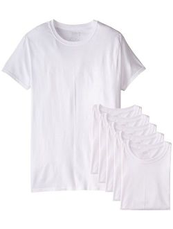 Men's Stay Tucked Crew T-shirt (white, Xx-large Tall) 6-pack