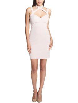 Womens Halter Mini Bodycon Dress
