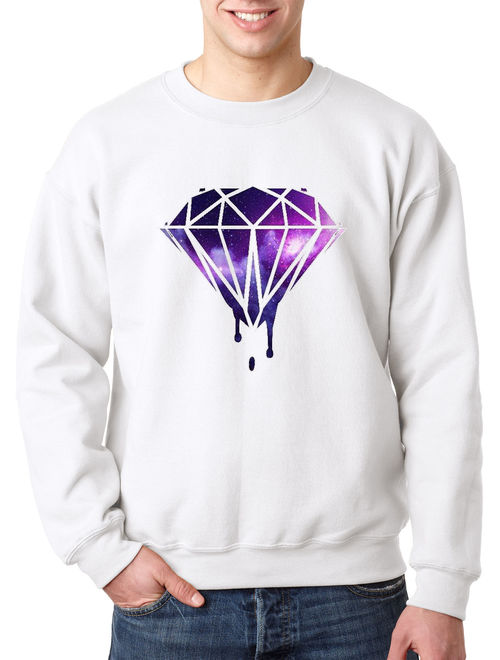 089 - Crewneck Galaxy Bleeding Dripping Diamond Sweatshirt