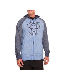 Men's Autobots Long Sleeve Zip Up Graphic Hoodie