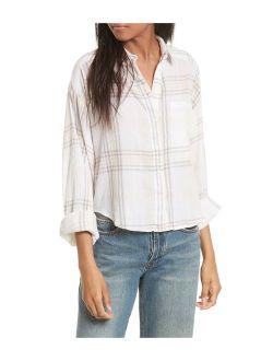 Womens Paradise Garden Cropped Cutie Button Up Shirt