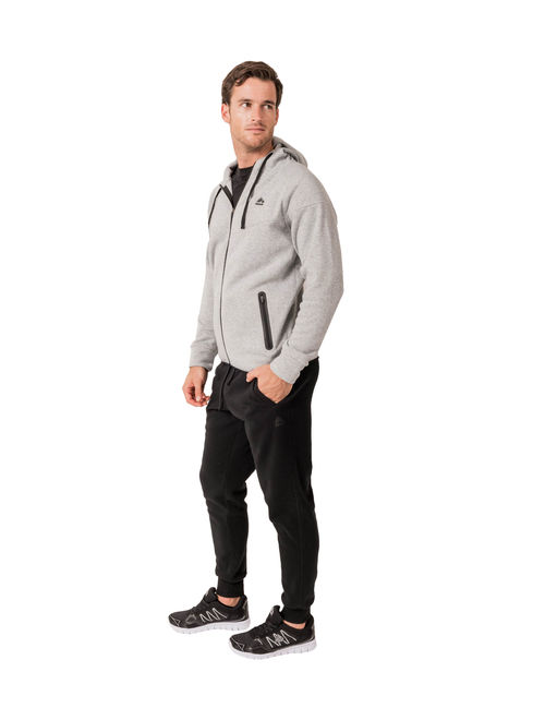 RBX Active Men's Fleece Full-front Zip-up Hooded Sweatshirt