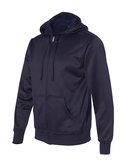 Independent Trading Co. Poly-Tech Hooded Full-Zip Sweatshirt