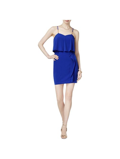 Guess Womens Special Occasion Mini Party Dress Blue 14