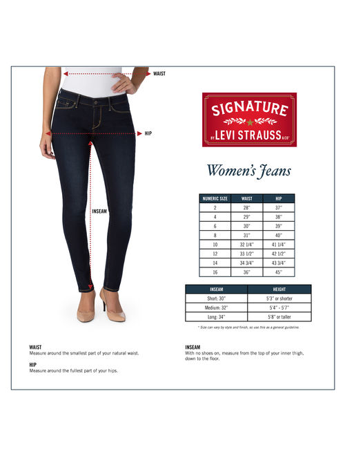 Signature by Levi Strauss & Co. Women's Mid Rise Skinny Short