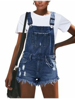 GRAPENT Women's High Waisted Removable Belt Sewn Cuff Wide Leg Denim Jean Shorts