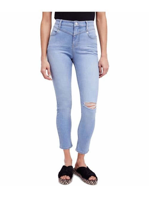 Free People Women's Jeans 31X27 Stretch Mara Skinny Ripped