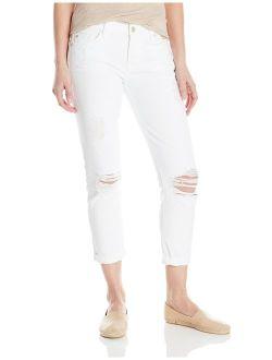 7 For All Mankind Women's Destroyed Josefina Boyfriend Mid Rise Jeans