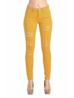 ICONICC Women's Butt-Lifting Skinny Jeans Ripped Destroyed Denim