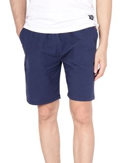 Mens Causal Beach Shorts With Elastic Waist Drawstring Lightweight Slim Fit Summer Short Pants With Pockets