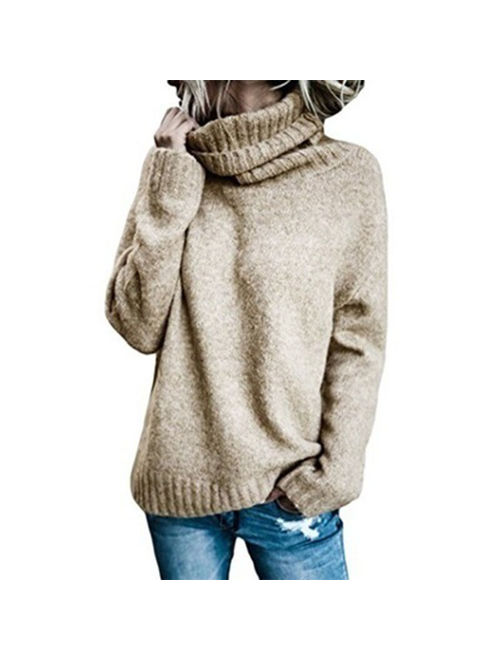Autumn Winter Fashion Knitted Sweater Turtle Neck Long Sleeve Pulover Sweater