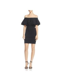 Endless Rose Womens Ruffled Knit Cocktail Dress