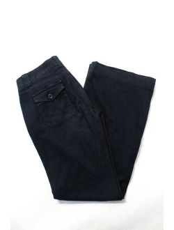 Rich & Skinny Womens Dark Blue Cotton Tained Love Wide Leg Jeans Size 29