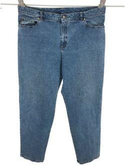 Ralph Lauren Lauren Jeans Co Women Tapered Jeans Sz 20W Medium Wash Stretch READ