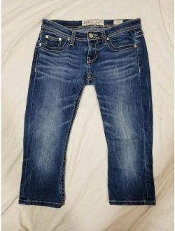 BKE Stella Cropped Capris Stretch Jeans Size 25