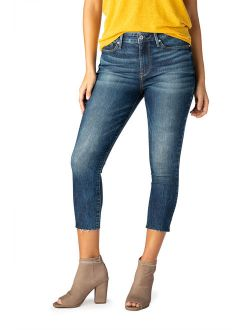 Women's High Rise Ankle Skinny Cut Off Jeans