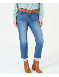 Style & Co. 9885 Petites Size 14P Womens NEW Blue Cropped Jeans Frayed $49