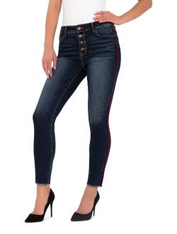 Women's Button Front Ankle Skinny