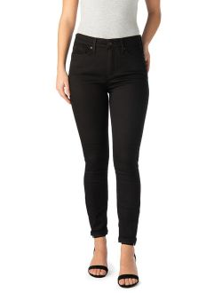 Women's High Rise Ankle Skinny Cuff Jeans