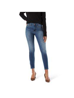 Women's High Rise Ankle Zip Skinny Jean