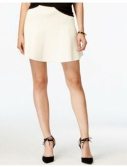 Rachel Roy A-line Textured Skirt WINTER WHITE Size Large