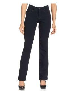 Style & Co. 8582 Petites Size 6PS Dark Blue Boot-Leg Jeans 5-Pockets Short $49