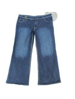 Out Jeans Womens 24 Stretch Indigo Denim Dark Wash Mid Rise Jean Loose Fit Plus