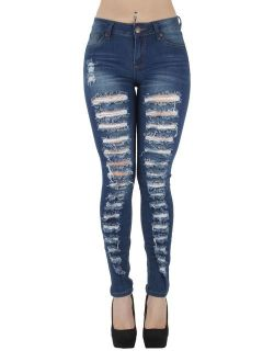 Classic Design, Ripped Distressed, Destroyed Skinny Jeans