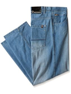 Men's Big And Tall Relaxed Fit Basic Sand Blasted Core Denim