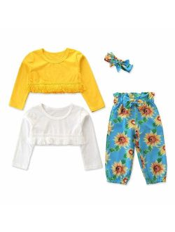 Toddler Baby Girl Floral Romper Jumpsuit Summer Sleeveless Flower Print Wide Leg Pants Bodysuit Outfits Clothes