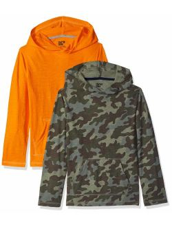 Spotted Zebra Boys' Toddler & Kids 2-Pack Light-Weight Hooded Long-Sleeve T-Shirts