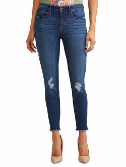 Sofia Skinny Destructed Mid Rise Ankle Jean Women's (Medium Wash)