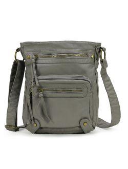 Washed Multi Pocket Crossbody Bag H1693