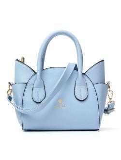 New Shoulder Bag Handbag Crossbody Bag,Cat Face PU Leather Cute Simple For Women