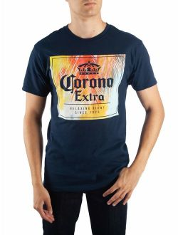 """Men's Beer Corona Extra """"Relaxing Right"""" Short Sleeve Graphic T Shirt"""