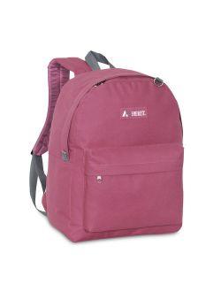Women's Canvas Solid Zipper Closure Backpack 2045cr-mar