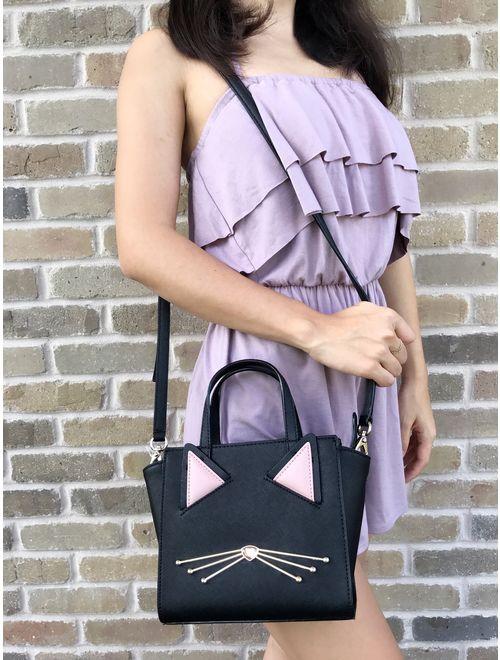 Kate Spade Black Cat Mini Hayden Jazz Things Up Small Crossbody Handbag