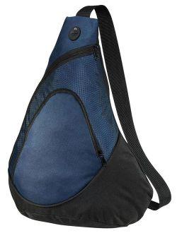 Front Zippered Pocket Honeycomb Pocket Sling Pack