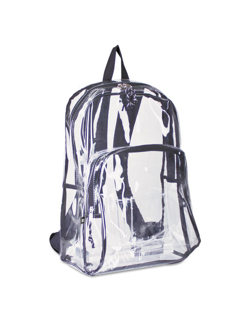 Two Compartment PVC Plastic Clear Backpack