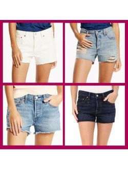 ~ 501 Button Fly Women's Jean Shorts $50 Nwt