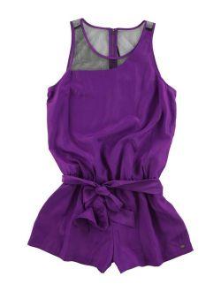 Womens Robyn Romper Jumpsuit Purple M