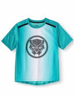 Black Panther Short Sleeve Performance Tee Shirt (little Boys & Big Boys)