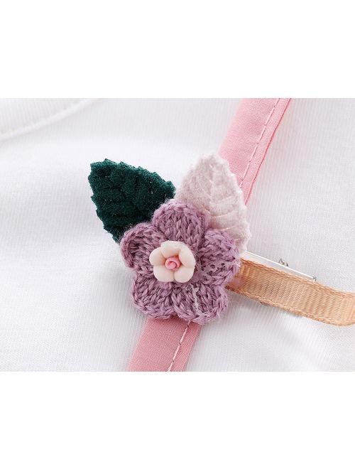 Pink Cute Toddler Baby Girl Summer Cotton One Piece Skirt Dress Sundress Clothes 3-6Months